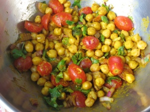 Turmeric concoction with chickpeas